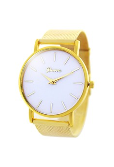 Geneva Lalaine Stainless Steel Watch BUS075 (White,Gold)