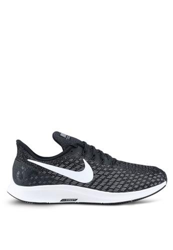 Nike black and white Nike Air Zoom Pegasus 35 Running Shoes ED49ASH7E3EFF1GS_1
