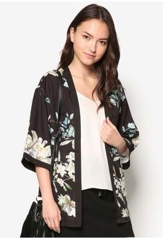 Floral Abstract Kimono Cardigan