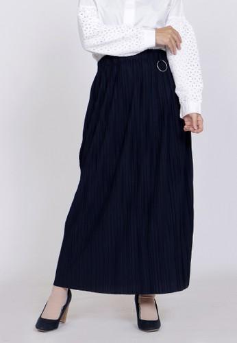 ZAHRA SIGNATURE blue Long Skirt Plisket Belinda 261B2AA486E883GS_1