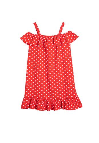 KOTON red Polka Dot Dress E6234KA2914E4FGS_1