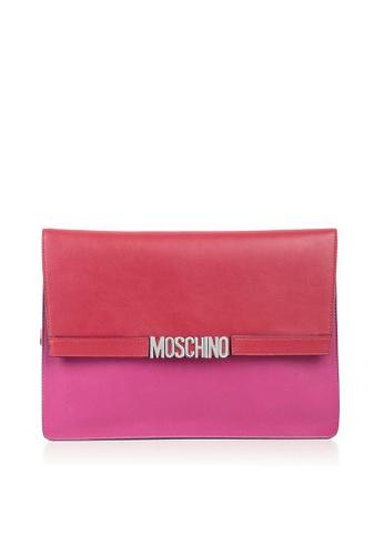 MOSCHINO pink MOSCHINO LOGO CLUTCH 54DB0ACF6BAEA2GS_1