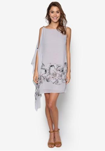 esprit 價位Sapphire 花卉印花連身裙, 服飾, 洋裝