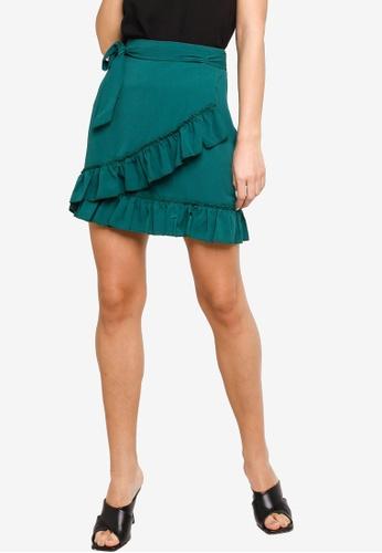 a54f0f0210 Buy ZALORA Ruffles Wrap Mini Skirt Online on ZALORA Singapore