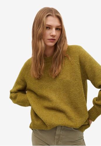 Mango green Oversize Knit Sweater DFCD6AA540A02CGS_1