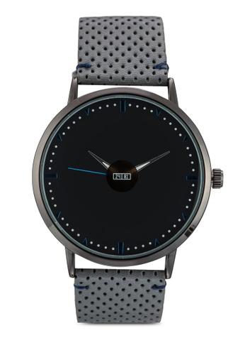 24:01 grey Wyatt Contrast Color Watch 55E06ACA1D1D5AGS_1