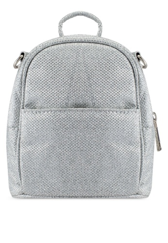Dorothy Perkins silver Silver Mini Backpack Crossbody Bag DO816AC0S09ZMY_1