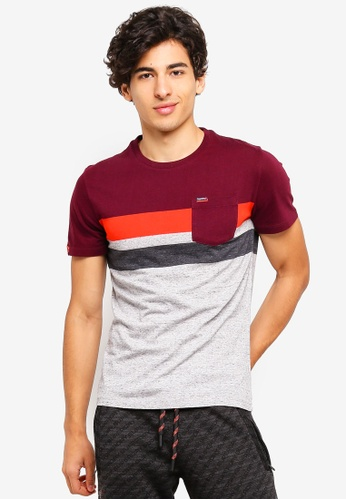 Superdry 紅色 O L Terrace Stripe Pocket Tee 4A4A6AAB6407D6GS_1