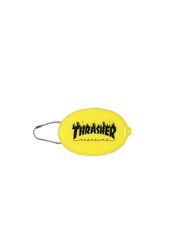 Thrasher yellow Thrasher Flame Coin Pouch 98CE4AC36623DCGS_1
