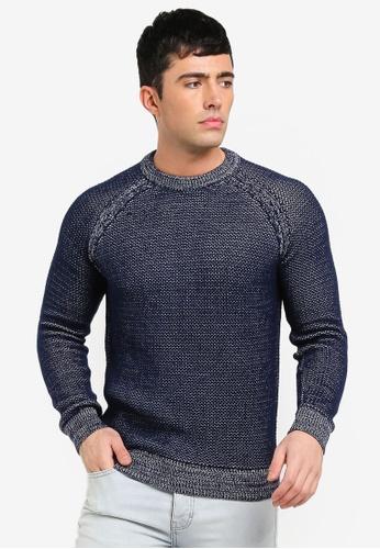 MANGO Man 藍色 針織毛衣 BC91DAAD430F2BGS_1