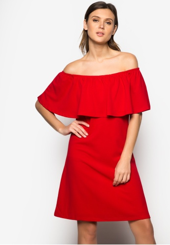 a02c8d8a9369 Shop CIGNAL Lisanna Off Shoulder Dress with Ruffle Online on ZALORA ...