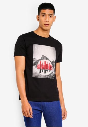 ESPRIT 黑色 短袖T恤 73250AA7B639F5GS_1