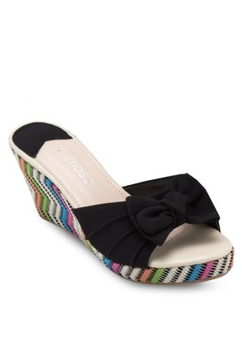 蝴蝶結編織楔形涼鞋, 女esprit童裝門市鞋, 楔形涼鞋