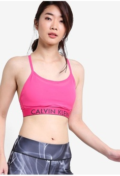 b4037bbaeb9750 Calvin Klein. Mesh Layer Sports Bra with Removable Cups ...