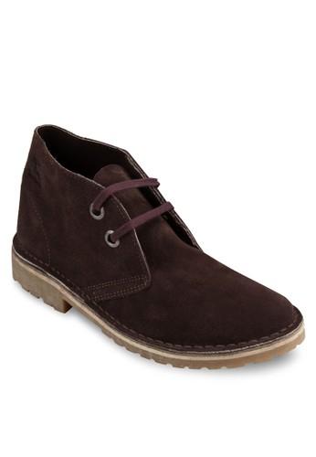Safari 麂皮雙眼短esprit手錶專櫃筒踝靴, 鞋, 靴子