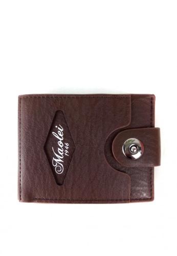 Lucky JX brown M Simple Botton Wallet E550EACB9C5A55GS_1