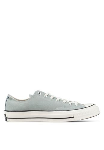 8fa2a4412e31dc Converse green Chuck Taylor All Star 70 Sun Bleached Asphalt Ox Sneakers  A9242SHD1ED85AGS 1