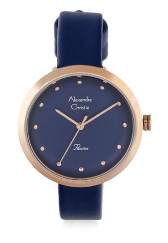 Alexandre Christie navy Alexandre Christie Jam Tangan Wanita - Blue Rosegold - Leather Strap - 2745 LHLRGBU E1F20ACC357214GS_1