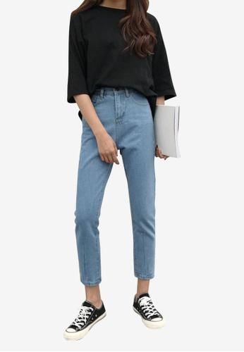 Lara blue Women's Cropped Jeans 1E2CBAA4A67522GS_1