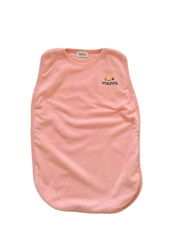 Vauva pink Vauva Baby Organic Cotton Basic Sleeping Bag - Pink AC968KC975D95EGS_1