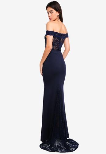 d178776f25 Shop MISSGUIDED Bridesmaid Bardot Lace Fishtail Maxi Online on ZALORA  Philippines