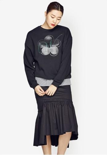 花卉esprit鞋子圖案長袖衫, 服飾, 印花時代