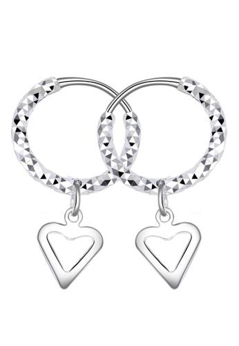 SC Tom Silver silver Heart Loop Dangling Earring-ELC037W10 SC872AC96DITPH_1