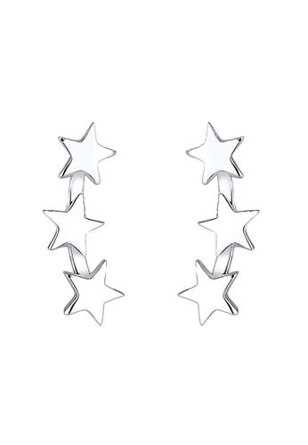 Elli Germany silver Elli Germany Earring Earring 925 Sterling Silver Stars EL474AC0SEV0MY_1