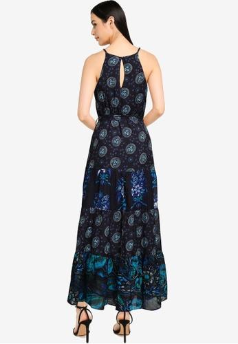 Desigual black Embroidered Halter Midi Dress 075C1AA1744671GS_1