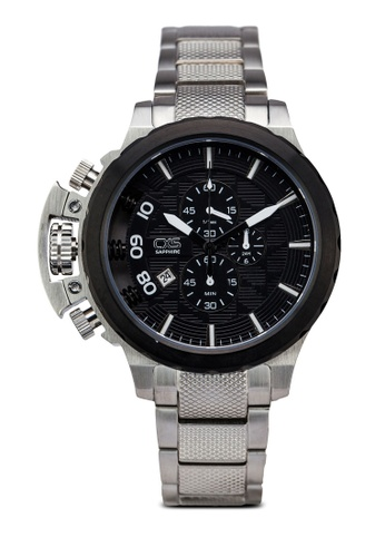 Carlo Cardini black and silver Carlo Cardini CX5 005G-SS-44 Gents Watch CA038AC50LEBMY_1