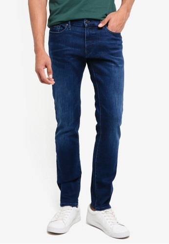 BOSS blue and navy Charleston BC Jeans - Boss Casual 22740AA1A4FD74GS_1