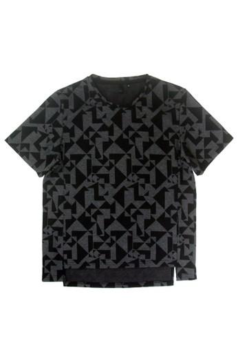 幾何印花短袖上衣, 服飾, 印圖Tesprit outlet 桃園恤