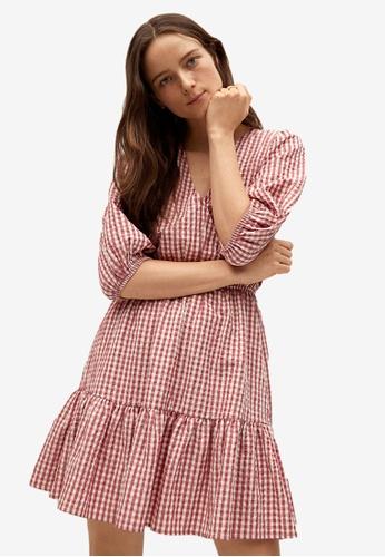 Mango red Vichy Check Dress 68E14AA6642BFDGS_1
