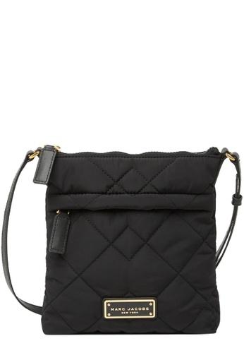 MARC JACOBS black Marc Jacobs Quilted Nylon Messenger Crossbody Bag in Black CBDC9AC2ABD994GS_1