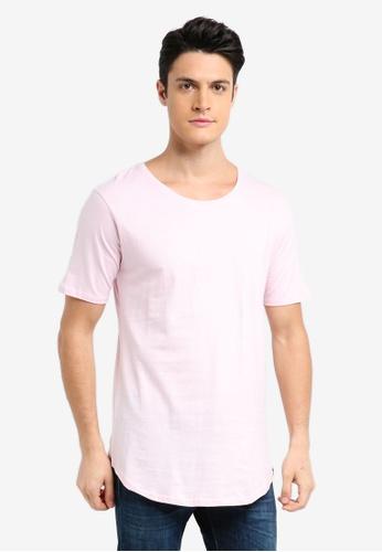 Factorie 粉紅色 素色短袖T恤 78CB3AAA0FE3ECGS_1