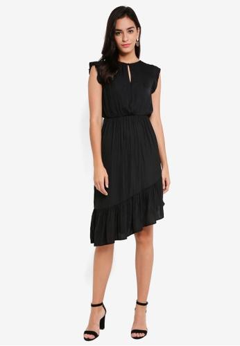 Vero Moda black Dixie SL Calf Dress C96E7AABC9045FGS_1