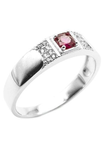 Elfi silver Elfi 925 Genuine Silver Engagement Ring R41'S (Red) – The Silver Pegasus 0B9FFAC9CD026AGS_1