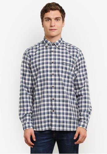 ESPRIT blue Woven Long Sleeve Shirt ES374AA0RVE9MY_1