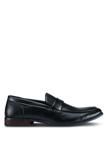 UniqTee black Leather Formal Dress Shoes With Penny Strap 7E112SHF299726GS_1