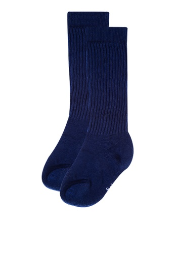 Style Me Little navy The Cotton Knit Ribbed Socks 59D80KAA09000BGS_1