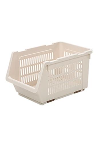 HOUZE HOUZE - Stackable Multi Purpose Rectangle Basket (Dim: 34.5x24x20cm) 0EEA3HLE25388FGS_1