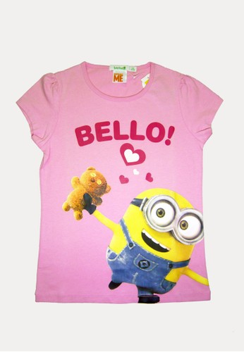 Bossini pink Bossini Kids Girl T-Shirt Doll Pink (94085802026) 58497KACCF19D3GS_1