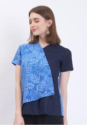 Aksa Batik blue BLOUSE BATIK CAP AKSA BATIK SANIA XABIRU 4DF5AAADAD697EGS_1
