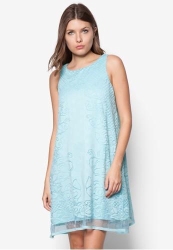 蕾esprit outlet 香港絲鉤花寬擺洋裝, 服飾, 洋裝