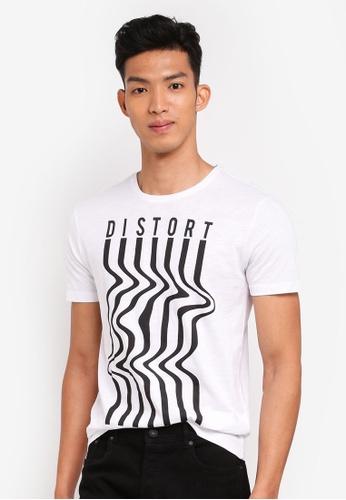 OVS 白色 短袖印花T恤 21C0CAA9673CB7GS_1