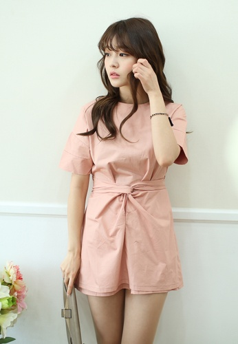 Shopsfashion pink Calla Shirt Dress in Coral SH656AA15SNCSG_1