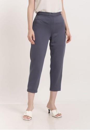 Bevenou grey Bevenou Liam Scuba High-waisted Pants 8CD44AA4BA9400GS_1