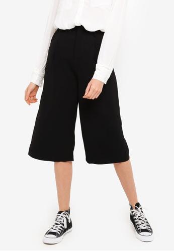 Hopeshow black Knee Length Pants 85CA2AAE5DE7CDGS_1