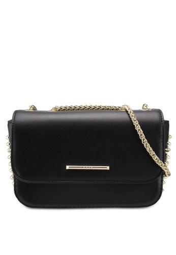 Nose black Gold Spike Chain Shoulder Bag 02242ACA2975BAGS_1