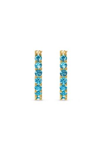 Swarovski blue Vittore Hoop Pierced Earrings C4ADFAC8D79495GS_1